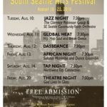South Seattle Arts Festival: August 10-22