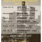 South Seattle Arts Festival: August 10-22