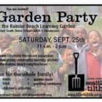 Don't Miss Rainier Beach Learning Garden Party, Sept. 25