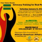 Advocacy Training for Real People, Saturday, January 8