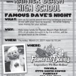 Eat at Famous Dave's BBQ and support Rainier Beach HS Seniors, March 31!