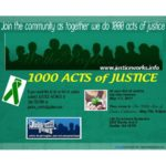 1000 Acts of Justice Update: Closing Celebration, May 7