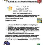 Community Involvement Meeting: Rainier Beach Late Night Program, May 23