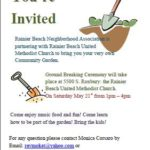 Rainier Beach Community Garden Ground Breaking, May 21
