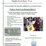 Rainier Beach Action Team Meeting – Public Safety in Rainier Beach RB Library Feb 28, 6:30