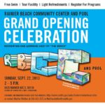 Grand Opening of Rainier Beach Community Center Pool