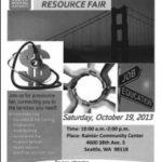 Bridging the Gap Resource Fair, October 19, Rainier Community Center