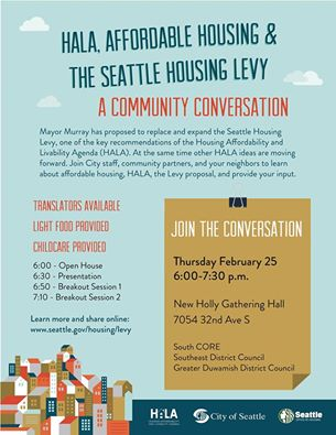 A Community Conversation on Affordable Housing, February 25, 2016!