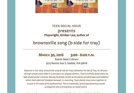 Rainier Beach Youth Social Hour Flyer