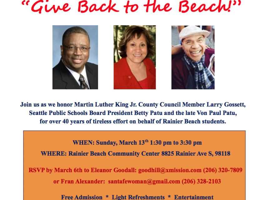 Rainier Beach High School Dollars for Scholars Fundraiser!
