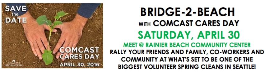 Bridge to Beach & Comcast Cares Day!