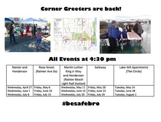 Weekly Update of the Corner Greeters!