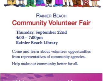 Rainier Beach Community Volunteer Fair