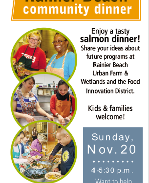 RAINIER BEACH COMMUNITY KITCHEN DINNER! November 20, 2016