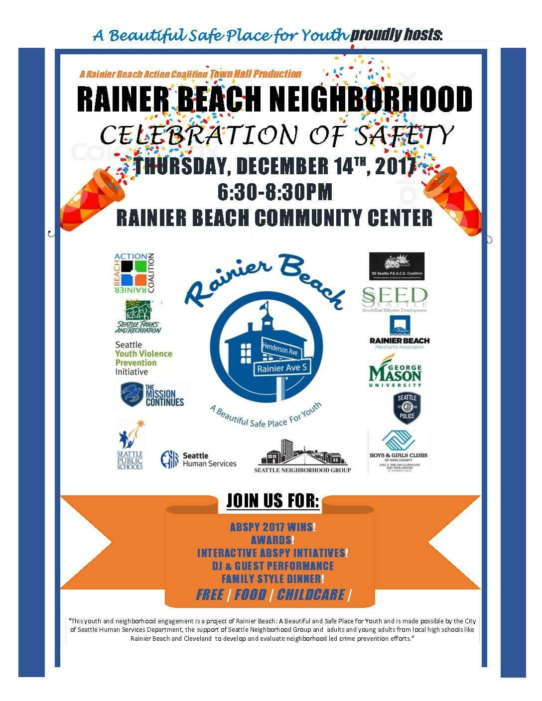 Rainier Beach Town Hall: Celebration of Safety!!