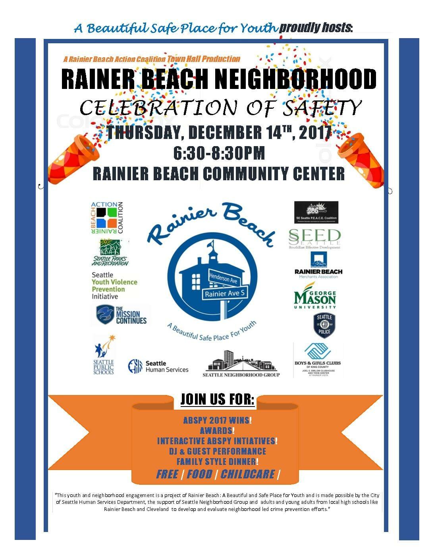 Rainier Beach Town Hall: Celebration of Safety!!