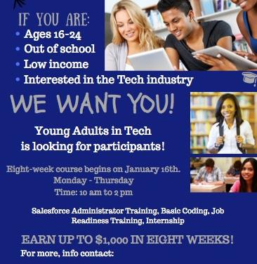Young Adults in Tech (YAT) is Recruiting!