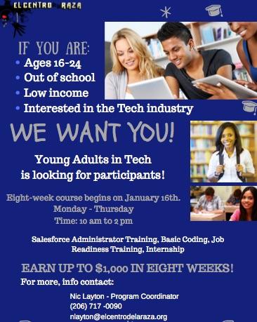 Young Adults in Tech (YAT) is Recruiting! | RBAC: Rainier