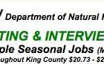 Recruiting & Interview Event for King County Seasonal Jobs