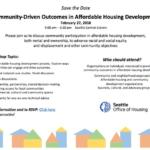 Community Driven Affordable Housing Event