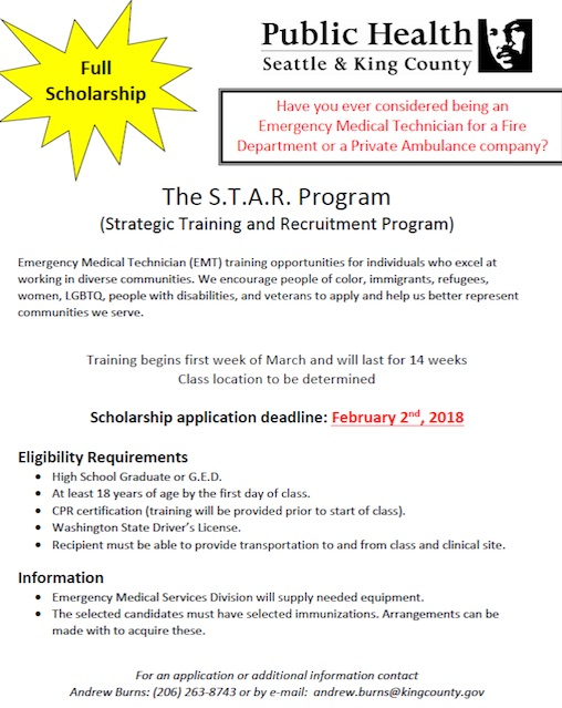 Full Scholarship for EMT