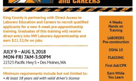 FREE Laborers Pre-Apprenticeship Training starts July – $21.32/hr starting apprentice wage – Limited Space!  Inbox x