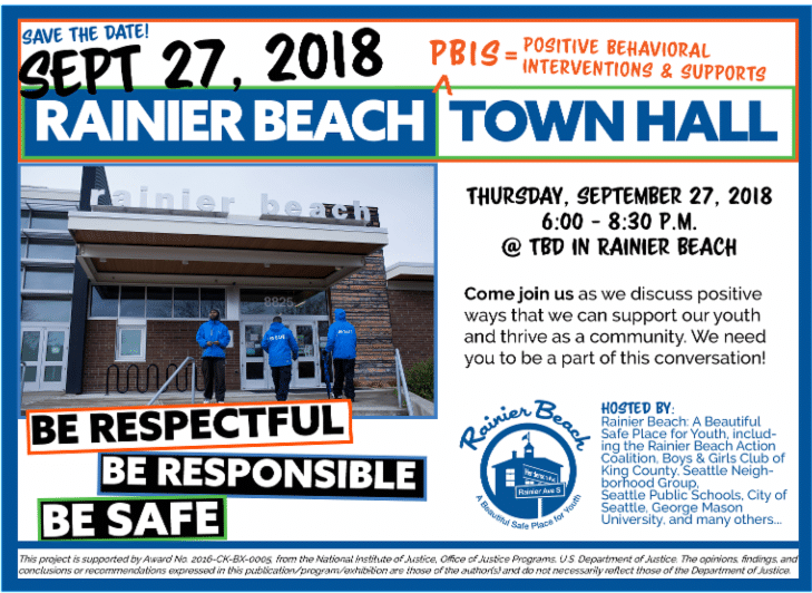 Rainier Beach PBIS Town Hall Save The Date!!