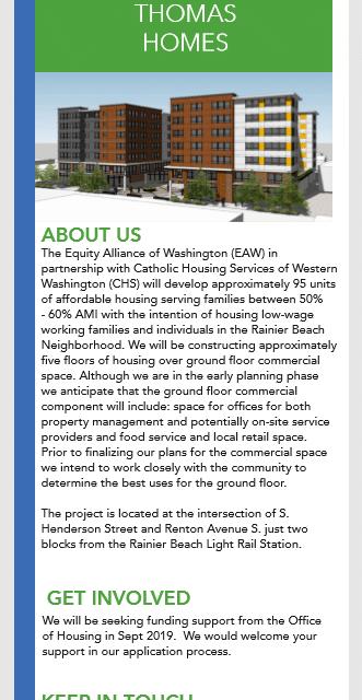 Rainier Beach Economic Development Roundtable