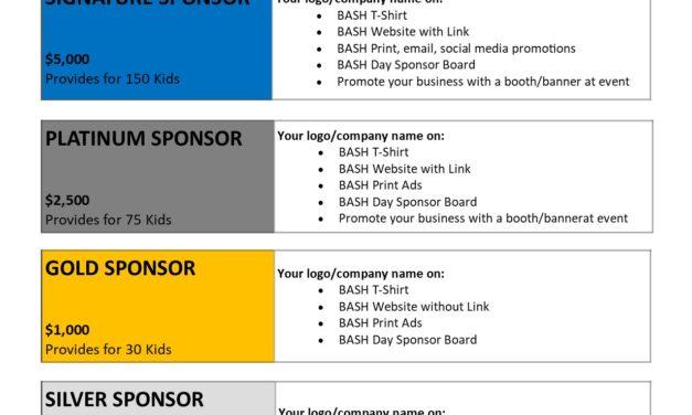 2020 Sponsorship Levels